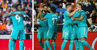 Benzema y Vinicius - 9 en la remontada vs Valencia: valoraciones de jugadores del Real Madrid
