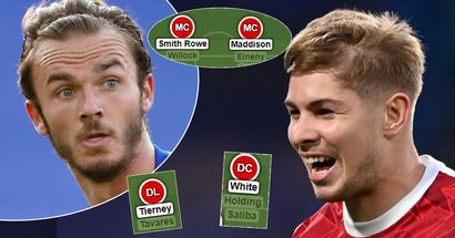 Maddison in, ESR stays: Arsenal's most realistic best-case scenario XI next season if rumours were true