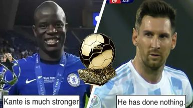 'Balón de Oro al ganador de la Copa del Rey, ¿de verdad?': Los fans franceses del PSG y Barça debaten quién se lo merece más: Kanté o Messi