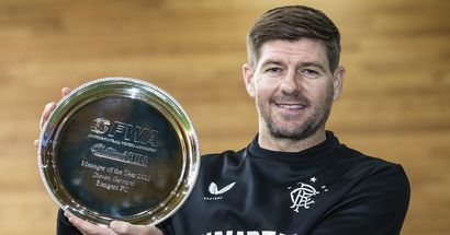 Steven Gerrard named Manager of the Year in Scotland after historic Rangers success
