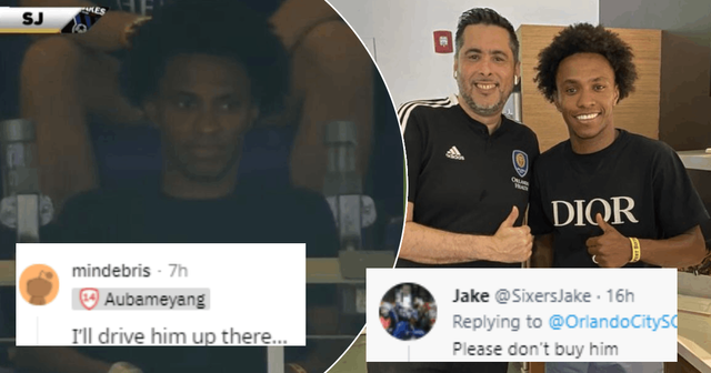 'I'll drive him up there', 'Please don't buy him': Arsenal and Orlando City SC fans react to Willian attending MLS game
