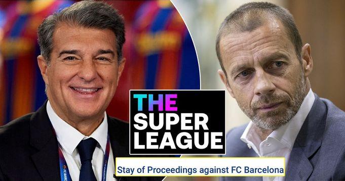 ОФИЦИАЛЬНО: УЕФА приостановил процедуру санкций против Барсы из-за Суперлиги