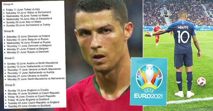 EURO 2020: full schedule, dates, groups and stadiums