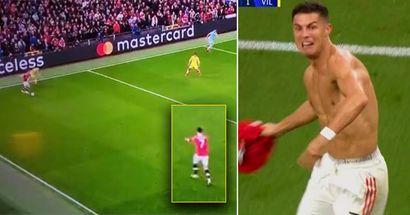 Cavani sorprende a Cristiano con una inesperada jugada en el minuto 81