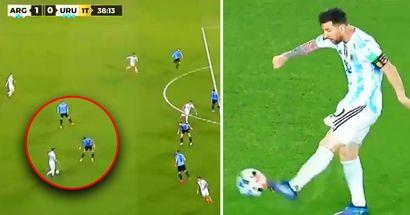 WOW: Leo Messi sorprende a los fans con un pase increíble que se convierte en gol ante Uruguay