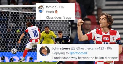 """""""Je comprends pourquoi il a remporté le Ballon d'Or"""": les fans épatés par Luka Modric après son dernier match à l'Euro 2020"""