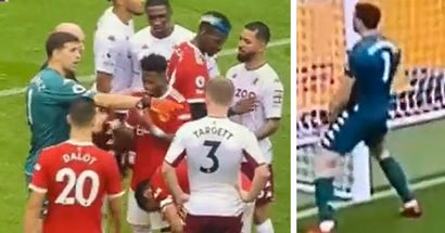 'Can't be legal': Arsenal fans love Emi Martinez for mercilessly taunting Ronaldo and Bruno at Old Trafford