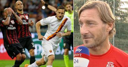 """Totti confessa: """"Ho fantasticato per il Milan ma ho giocato in un calcio fatto di passione e di affetto verso i tifosi"""""""