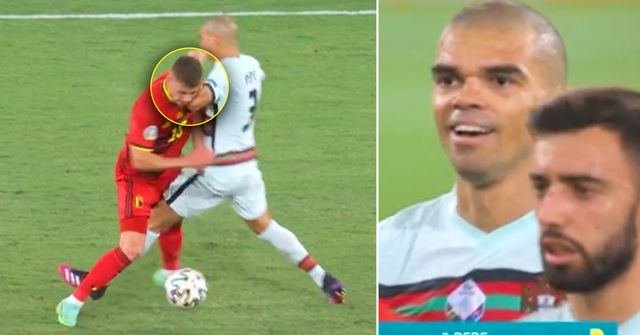 Animal aggression. Pepe criticised for brutal foul during Portugal–Belgium match
