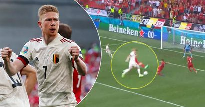 Belgium King. De Bruyne cuts off 3 Denmark players with cleverest assist to Thorgan Hazard
