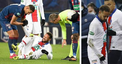 Neymar has only 'faint hope' of facing Barcelona after suffering fresh injury in French Cup win