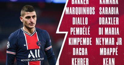 PSG gibt seinen Kader für das Hinspiel vs. Bayern bekannt: Verratti und 8 weitere Spieler fehlen