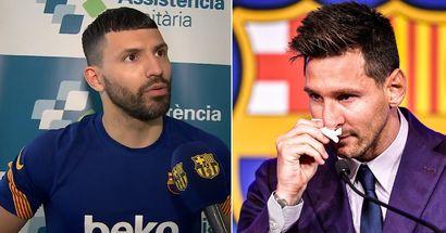 Agüero desvela lo que le dijo a Messi tras enterarse de que Leo dejaba el Barça