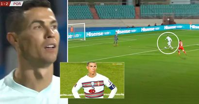 Cristiano Ronaldo misses incredible 1-on-1 chance against Luxembourg, goalkeeper doesn't even try