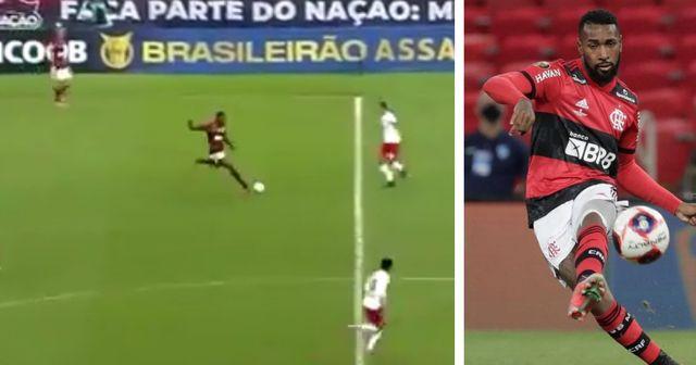 Gerson réalise une excellente transversale qui amène à un but magnifique de Flamengo
