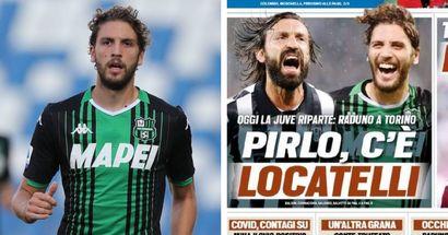 """""""Pirlo, c'è Locatelli"""", la prima pagina di Tuttosport rilancia l'affare col Sassuolo: previsto un incontro in settimana"""