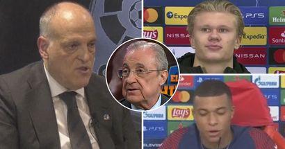 Tebas: 'El Real Madrid puede fichar a Haaland y Mbappé juntos'