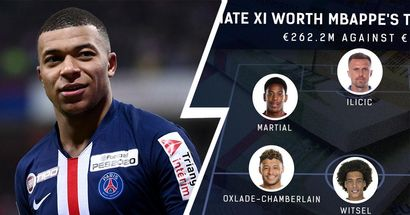 €265.2m v €262.2m: XI de cracks cuyo valor acumulado es inferior al de Mbappé