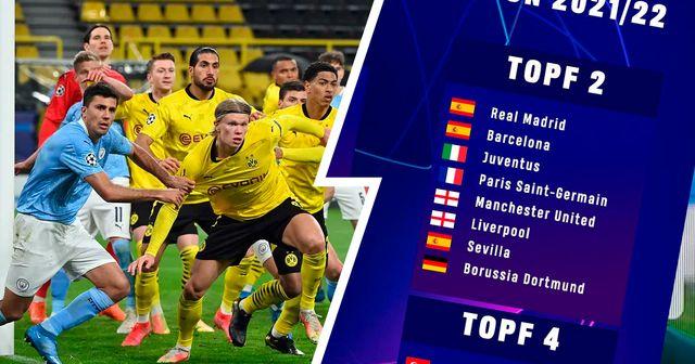 Man City oder Sporting? Wer kann Dortmunds Gegner in der UCL 2021/22 werden