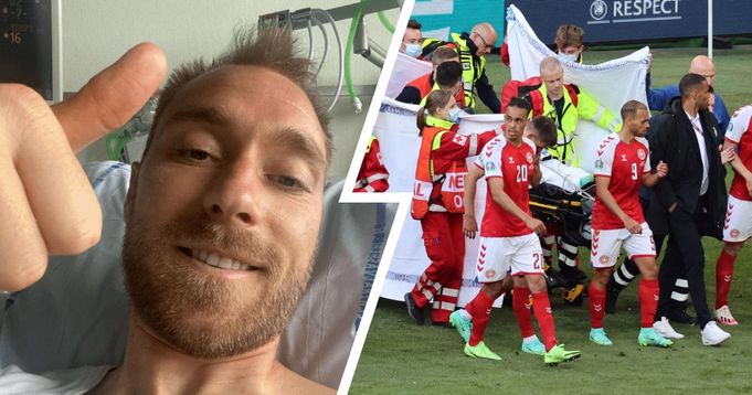 Christian Eriksen sends encouraging message on Instagram after suffering horrific cardiac arrest vs Finland