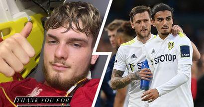 'Not a red card, just a freak accident': Harvey Elliott sends message to Leeds defender Struijk after sustaining horrible injury