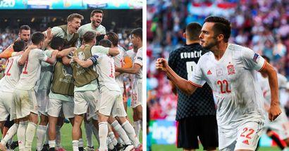 Pablo Sarabia ouvre le score pour l'Espagne dans un match riche en émotions face à la Croatie