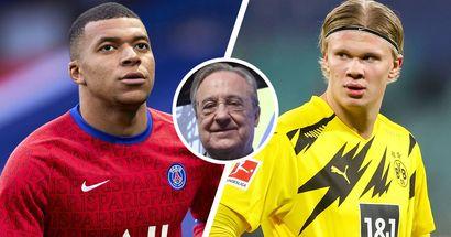 Florentino planea fichar a Mbappé y Haaland AMBOS en 2022 (fiabilidad: 3 estrellas)
