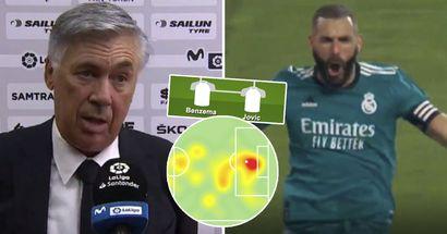El nuevo rol de Hazard, el versátil Benzema: cómo Carlo Ancelotti alineó el Madrid vs Valencia