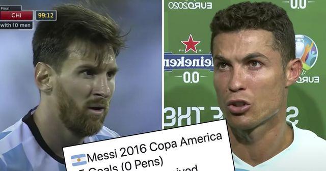 Messi et Ronaldo n'ont marqué qu'une seule fois 5 buts lors d'un tournoi international, mais quel est le meilleur record?