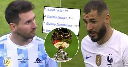 Benzema, Messi y otros: las últimas probabilidades de ganar el Balón de Oro 2021