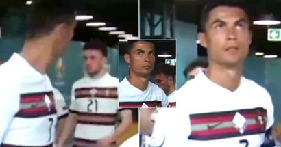 'Disgusting'. Cristiano Ronaldo's angry reaction to Diego Jota in the tunnel caught on camera