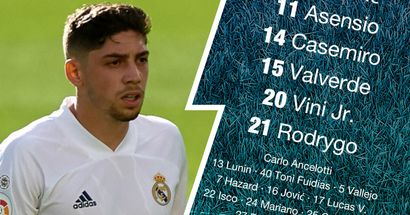 OFFICIAL: Valverde at right-back as Real Madrid XI vs Villarreal unveiled