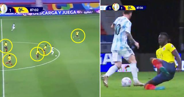 Lionel Messi simply destroys Colombia defenders with incredible solo run