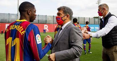 Les gros bonnets de Barcelone auraient rencontré Dembélé au sujet de la prolongation de son contrat