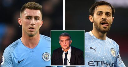 Man City not interested in swap deals for Laporte and Bernardo Silva, slap price tags (reliability: 4 stars)