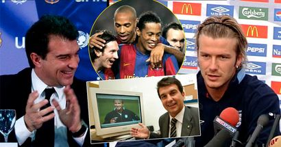 'It was Beckham or those two': How Barca's 2003 transfer window was a massive coup with Joan Laporta