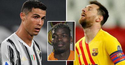 """Paul Pogba cite une """"bonne"""" chose à propos de l'élimination précoce de Messi et Ronaldo en Ligue des champions"""