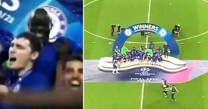 Moment filmé incroyable entre N'Golo Kante et Zouma en finale de la Ligue des champions