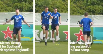 Kieran Tierney returns to Scotland training, Arsenal man looks ready to face England