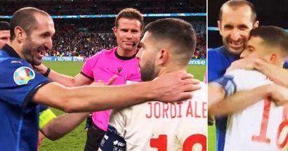 Enthüllt: Was Chiellini zu Jordi Alba sagte, als er ihn vor dem Elfmeterschießen umarmte
