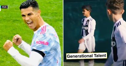 'Talento generacional': Vídeo inédito del hijo de Cristiano sorprende a la prensa