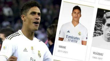 Varane añadido a la lista de 'leyendas' en la web del Real Madrid