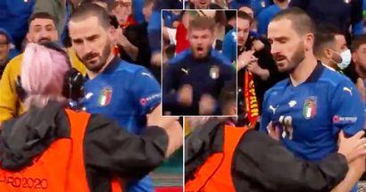 Expliqué: ce qui s'est passé entre Leonardo Bonucci et la steward après la victoire de l'Italie