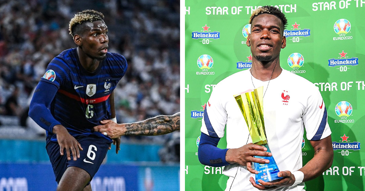 Paul Pogba named Man of the Match in France vs Germany: best stats from his  brilliant display