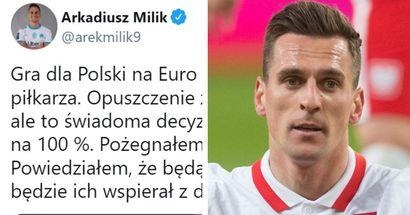 """""""C'est difficile pour moi de quitter le groupe, mais c'est une décision consciente"""": la première réaction de Milik à son forfait pour l'Euro"""