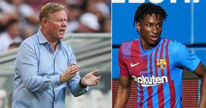 Koeman aurait appelé Balde et 2 autres joueurs du Barça B pour renforcer l'équipe première touchée par les blessures