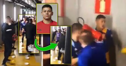 Marcos Rojo punches guard in massive brawl, grabs fire extinguisher after Copa Libertadores game