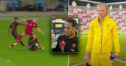 Erling Haaland spezza le dita di Virgil Van Dijk durante la partita: 'Penso di averle rotte. Mi ha detto 'Dannazione!'