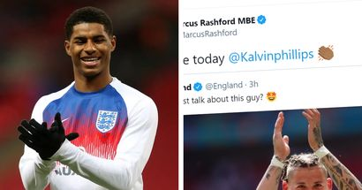 Marcus Rashford is all of us as he shares two-word reaction to Kalvin Phillips' brilliant display vs Croatia