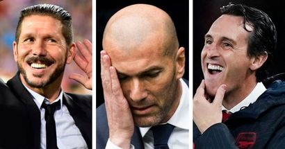 Simeone named best coach of past decade by IFFHS; Zidane out of top 5 and beaten by Unai Emery